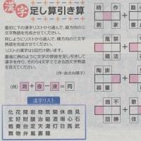 漢字の足し算引き算に挑戦
