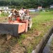 大川のヤギ達。田んぼの耕転。町村総会導入検討を先送り。