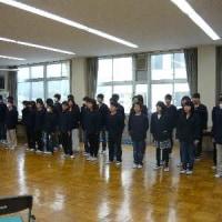 6年生のボランティアへの感謝の集い(3月9日)