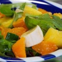今朝のサラダ・・・オレンジ.フルーツ
