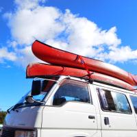 初めてのカヌー体験をしにペンションの仲間と福島県西郷村の堀川ダムへ