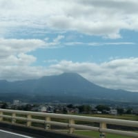 大山を眺めて帰路につく