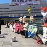 今日はすみや信一県知事候補の会カーが、柏を走りました。