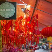 2017.01.11 ベトナム ハノイ 旧市街: 旧正月の飾りを売る店