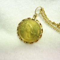 アクセサリーのお直し GOLDコインのペンダント