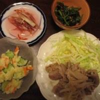 昨日と今日の食事