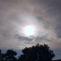 彩雲と日暈