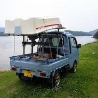 軽トラで初ボート釣り