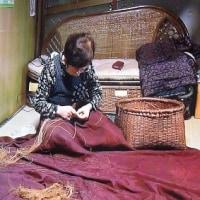 祖母も母も・・・家族みんなでやっていた機織り