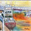 「芦屋マリーナ」F4 水彩色鉛筆