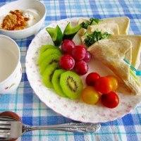 おさんぽ前の (*´▽`*) 朝食 🎶