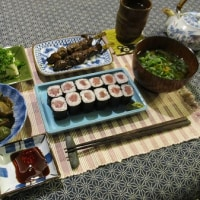 お昼ご飯はサーロインステーキとマイタケ