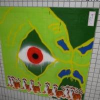 京都市地下鉄東山駅の壁面アート
