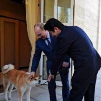 プーチンの秋田犬は「ゆめ」という名らしい?