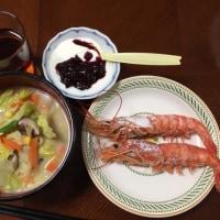 夕飯。ちゃんぽん。いただきます。