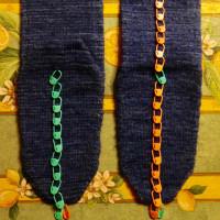 爪先から編む靴下 大 4足目 その5(完成)