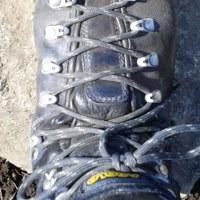靴ひもバッチグーでした。
