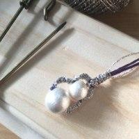 アクラメ編みで、ピアスを試作中…可愛い!