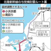 北陸新幹線は小浜-京都-京田辺案で調整
