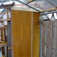 サウナ室の扉完成
