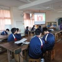 太宰府西中学校文化理解科の授業が始まりました。