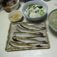 コマイの干物 みそ味の日本蕎麦