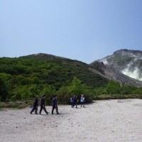 ふるさとを流れる川を調べよう Kawayu junior high school students