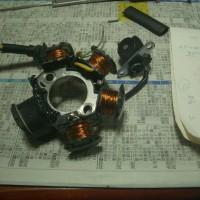 Z50Rいじり、ACジェネレーターコイル巻き完成