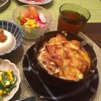 焼きカレーの夕ご飯