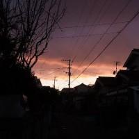 一瞬の夕焼け
