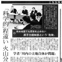 熊本地震でも原発を止めない原子力規制委という「危険」(4/27『東京新聞』)