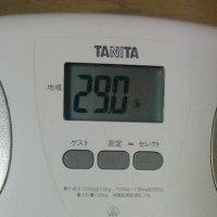 本日の体脂肪&体重
