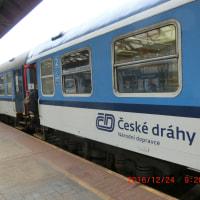 プラハ中央駅にて