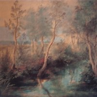 「茂った樹木と小川」 ルーベンス