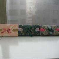 2/9 季節のラッピング 春のお祝いをダブル竹の子包みで)ぬいぐるみを包む