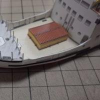 フリーのペーパークラフト_PapershipwrightのQueen of the Islesを作ってみる(その3)