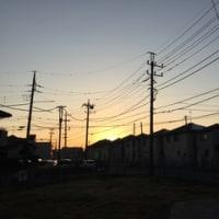 日の出が早くなってきている