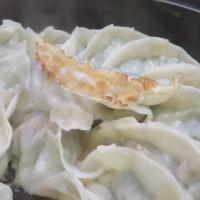 おくさん手作りの菊菜ギョウザで火曜の晩ごはん