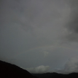 河口湖で富士山は見えなかったけど、虹が…