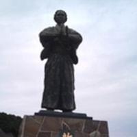 龍馬の銅像 上五島~長崎市 感謝~