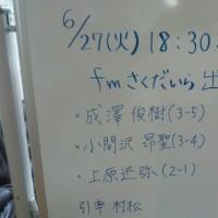 6月27日(火)本日も短縮日程 2017-079