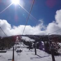 4月23日,日曜の志賀高原・速報レポート…朝は小雪,じきに晴れ.昼まではGoodコンディション!
