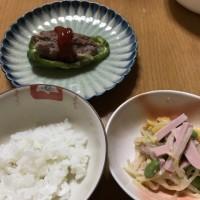 たくあんの味  &  お豆腐の卵とじ