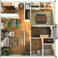 屋根裏部屋を楽しむ家