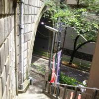 千日詣りで賑わう愛宕神社の裏側