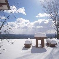 太陽と青空と雪