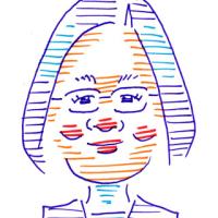 「対面・席描きの練習」メイ、ルペン、蔡英文(似顔絵)