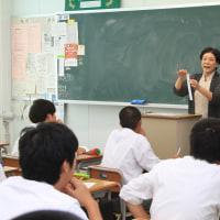 小出高校で短歌の特別授業