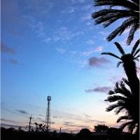 ティダ(太陽)の落(う)てぃまぐれ 奄美市名瀬赤材公園の夕空