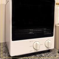 ベンチ風収納ボックスと無印オーブントースター2段型